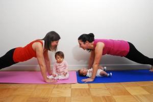 poza serviciu - antrenament post natal