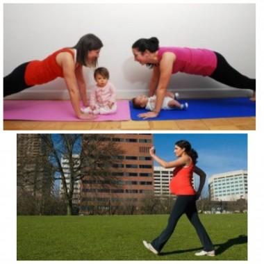 poza serviciu - antrenament prenatal si postnatal